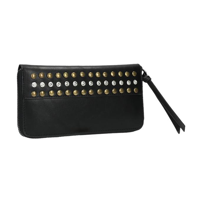 Dámska peňaženka s cvočkami bata, čierna, 941-6140 - 13