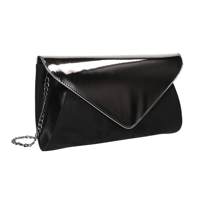 Dámska listová kabelka s retiazkou bata, šedá, 961-2218 - 13