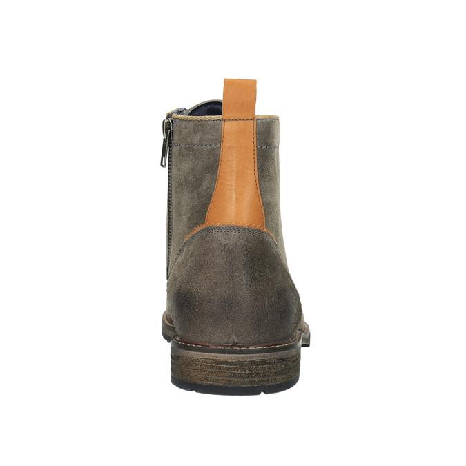Pánska členková obuv bata, šedá, 893-2651 - 17
