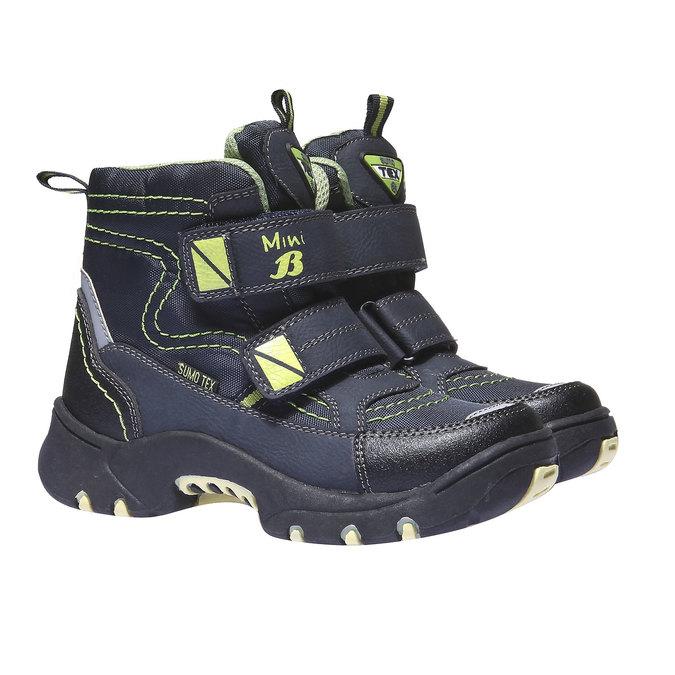 Detská obuv mini-b, modrá, 299-9144 - 26