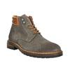 Kožená členková obuv na výraznej podrážke bata, šedá, 893-2650 - 13