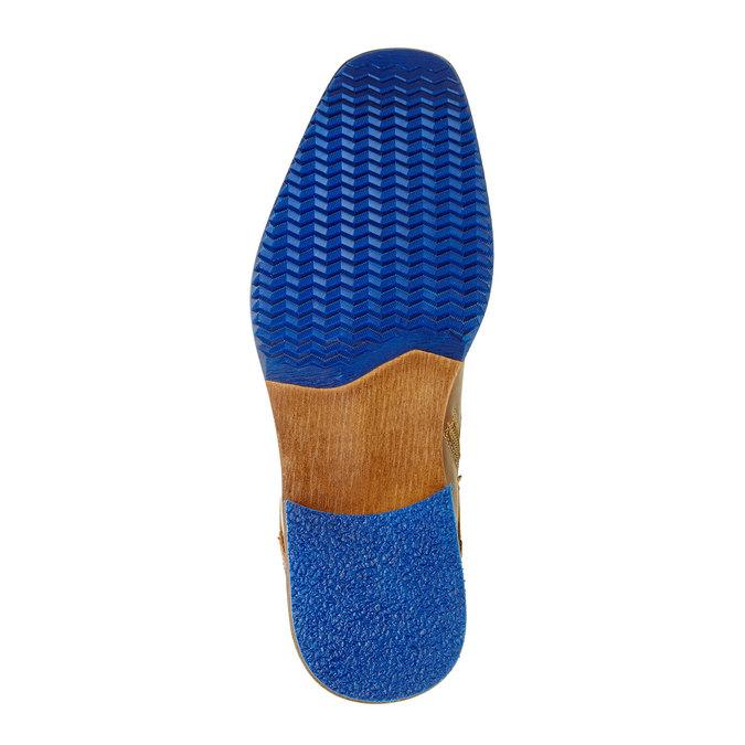 Kožená členková obuv pánska bata, hnedá, 894-4620 - 26