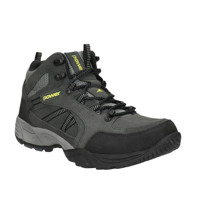 Členková kožená obuv v Outdoor štýle power, čierna, 803-6112 - 13