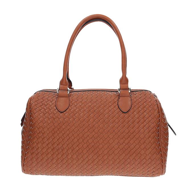 Bowling kabelka s prepletaným vzorom bata, hnedá, 961-3629 - 26