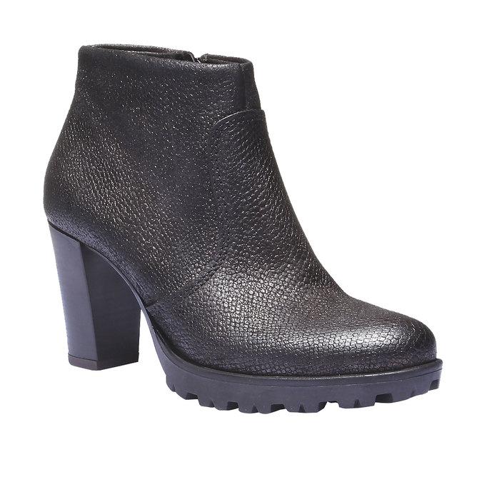 Kožené členkové topánky bata, šedá, 796-2107 - 13