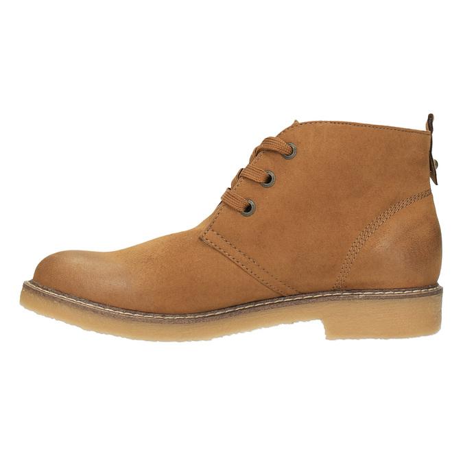 Dámska členková obuv s farebnou podšívkou bata, hnedá, 599-4605 - 26