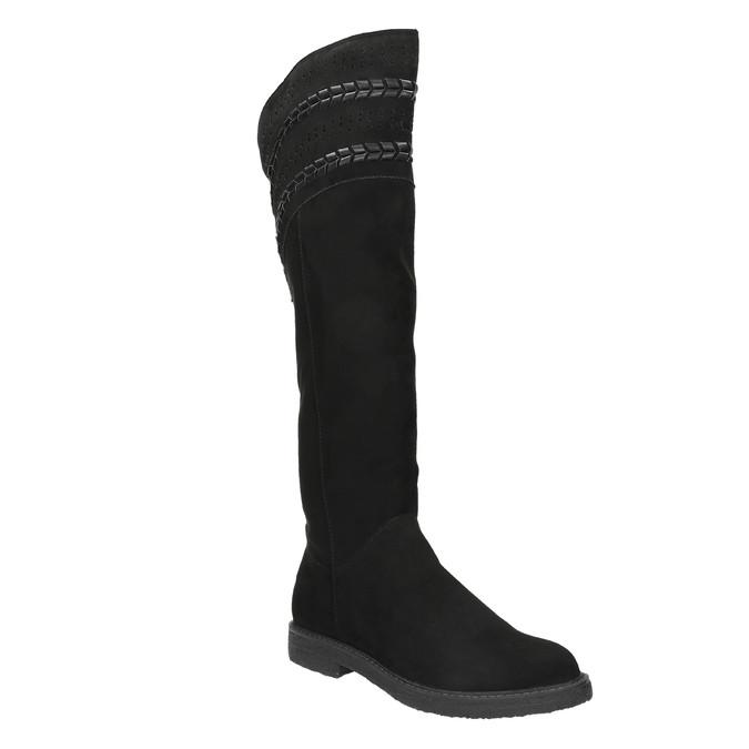 Dámské čižmy nad kolená čierne bata, čierna, 599-6602 - 13