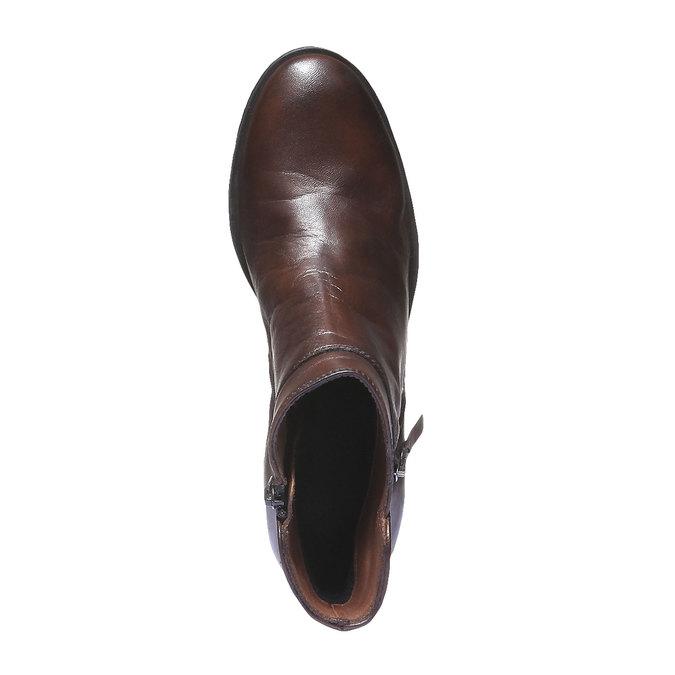 Kožená členková obuv bata, hnedá, 694-4166 - 19