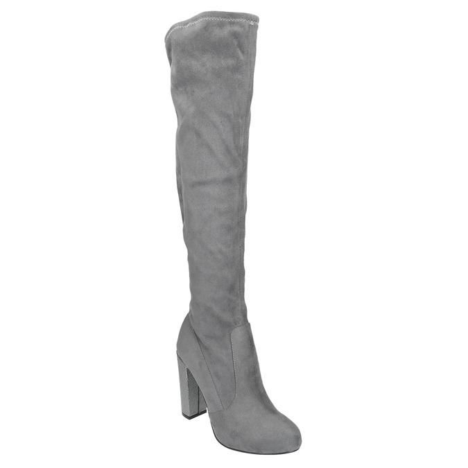 Dámské čižmy nad kolená bata, šedá, 799-2606 - 13