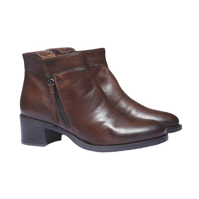 Kožená členková obuv bata, hnedá, 694-4166 - 26