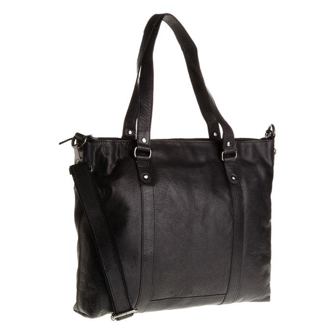 Kožená dámská kabelka bata, čierna, 964-6132 - 13