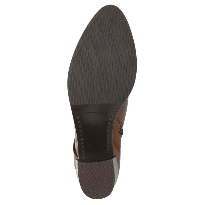 Kožené čižmy na stabilnom podpätku bata, hnedá, 696-4615 - 26