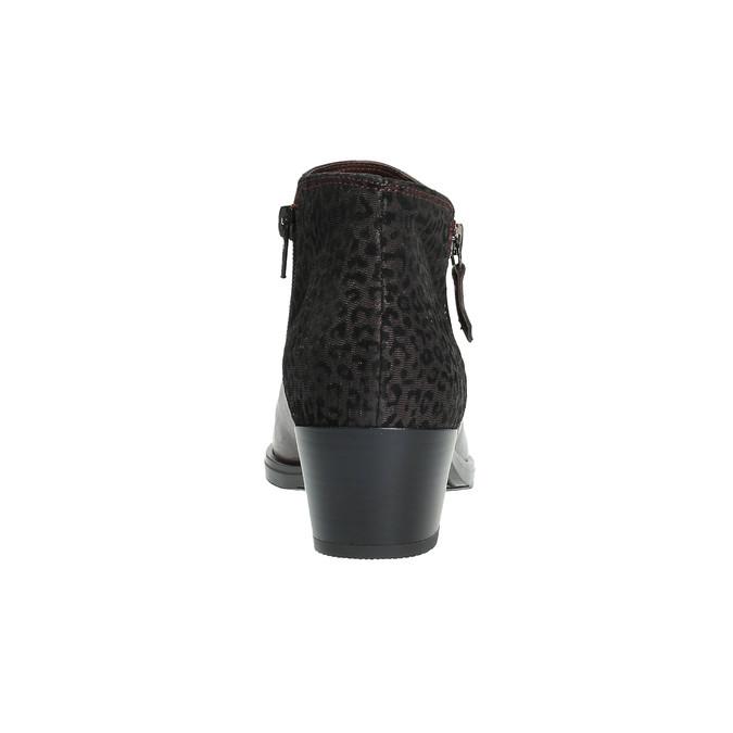 Kožená členková obuv na nízkom podpätku bata, červená, 696-5613 - 17