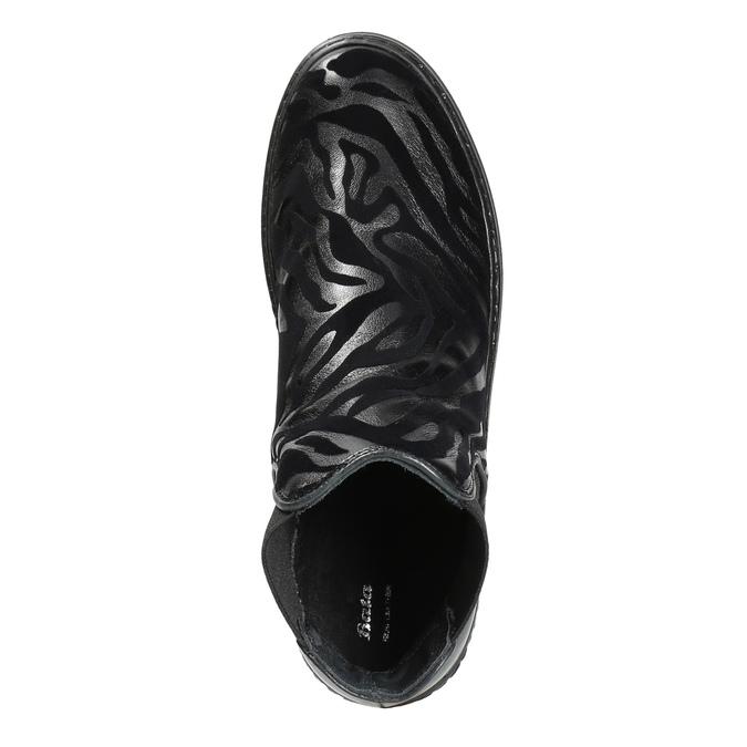 Kožená členková obuv so zvieracím vzorom bata, čierna, 546-6601 - 19