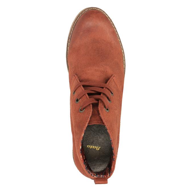 Dámska členková obuv s farebnou podšívkou bata, oranžová, 599-5605 - 19