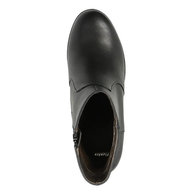 Členková obuv na masívnom podpätku bata, čierna, 791-6601 - 19