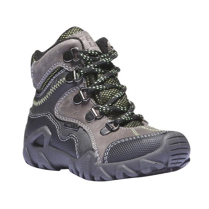Detské vysoké kožené topánky mini-b, šedá, 216-2100 - 13