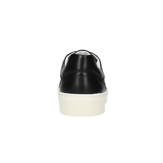 Ležérne kožené tenisky bata, čierna, 844-6629 - 17