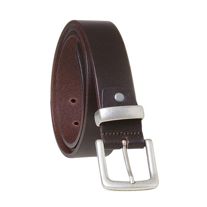 Pánsky kožený opasok hnedý bata, hnedá, 954-4162 - 13