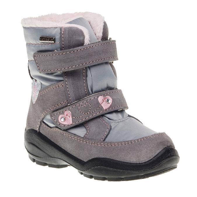 Kožené zimné topánky mini-b, šedá, 293-2152 - 13