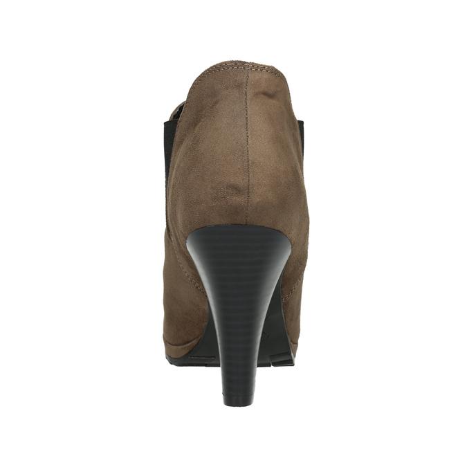 Členkové čižmy na podpätku s pružnými bokmi bata, béžová, 799-2601 - 17