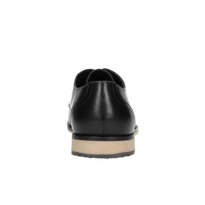 Pánske kožené poltopánky s ležérnou podrážkou bata, čierna, 824-6728 - 17