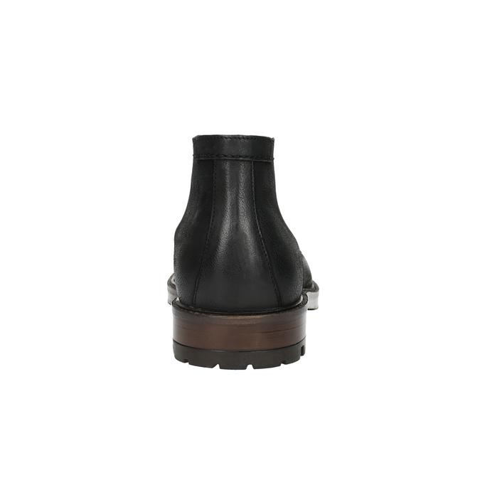 Kožená členková obuv pánska bata, čierna, 826-6642 - 17