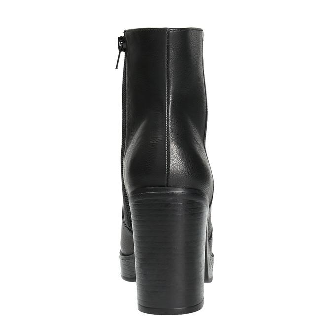Členková obuv na masívnom podpätku bata, čierna, 791-6601 - 17