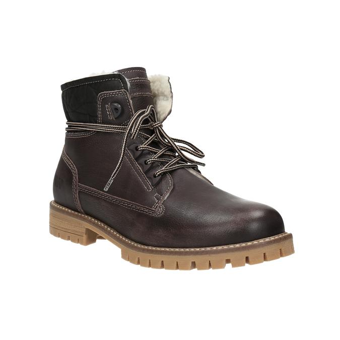 Dámska kožená zimná obuv weinbrenner, hnedá, 594-4491 - 13