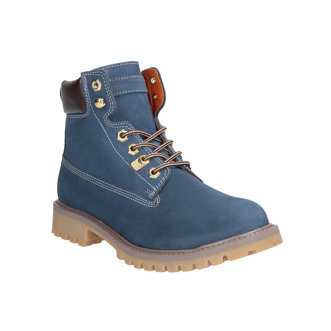 Dámska kožená obuv modrá weinbrenner, modrá, 596-9629 - 13