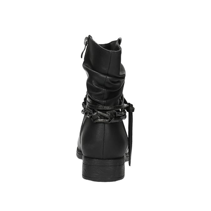 Čierne členkové čižmy bata, čierna, 591-6610 - 17