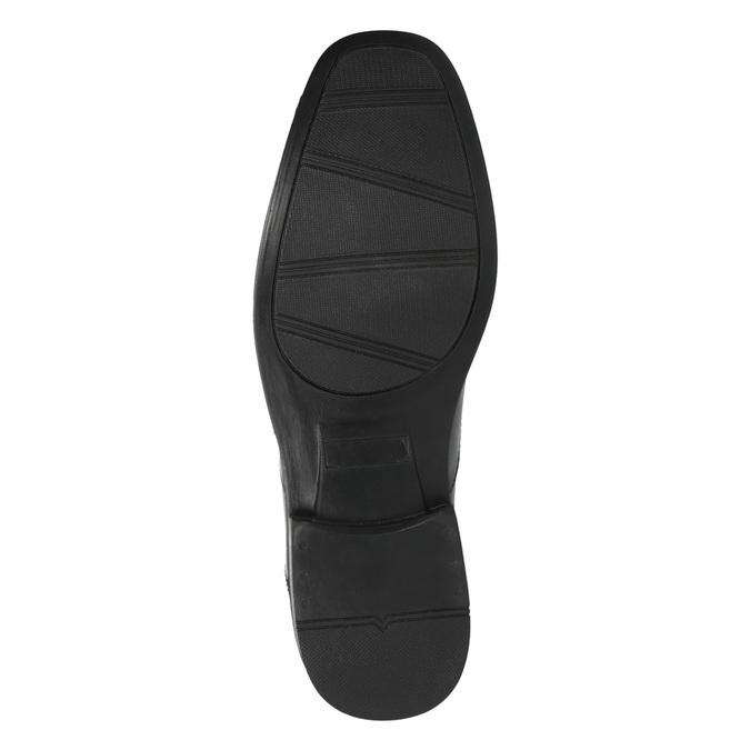 Čierne kožené poltopánky bata, čierna, 824-6743 - 26