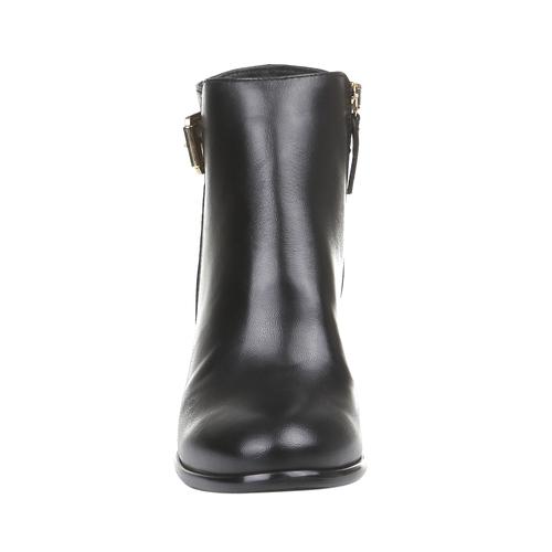 Kožené dámske čižmy bata, čierna, 794-6447 - 16