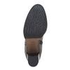 Kožené dámske čižmy bata, čierna, 794-6447 - 26