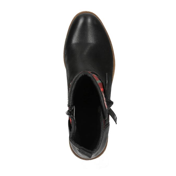 Členková obuv s Etno vzorom bata, čierna, 599-6604 - 19