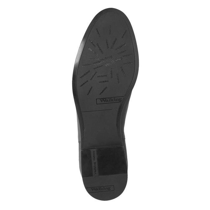 Dámske kožené čižmy ku kolenám bata, čierna, 594-6605 - 26