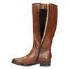 Kožené dámske čižmy bata, hnedá, 596-4608 - 19