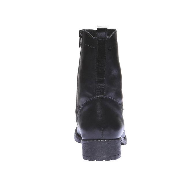 Členková obuv s výraznou podošvou bata, čierna, 594-6211 - 17