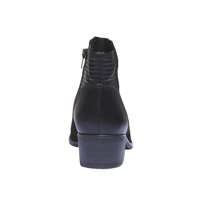 Kožené členkové čižmy bata, čierna, 596-6103 - 17