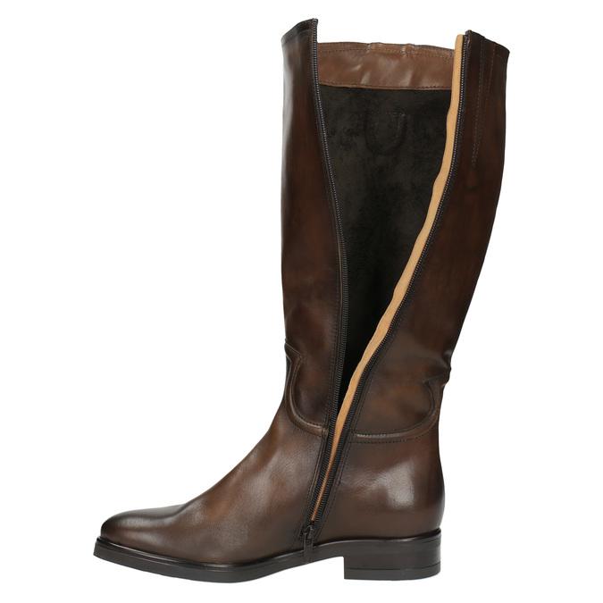 Dámske kožené čižmy bata, hnedá, 596-3608 - 19