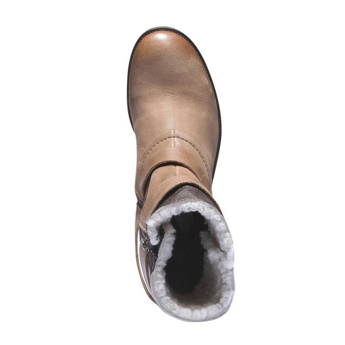 Kožené členkové čižmy s remienkami bata, hnedá, 696-3101 - 19