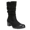 Kožená členková obuv bata, čierna, 696-6101 - 13