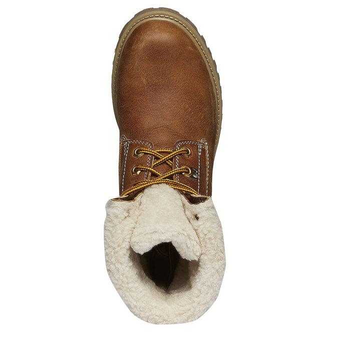 Kožená obuv s kožušinou weinbrenner, hnedá, 594-3823 - 19
