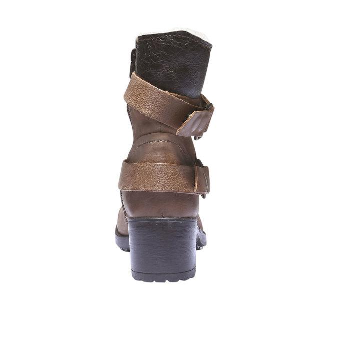 Kožené členkové čižmy s remienkami bata, hnedá, 696-3101 - 17