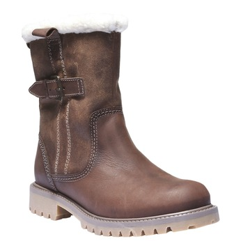Kožená obuv s protišmykovou podošvou weinbrenner, hnedá, 594-4455 - 13