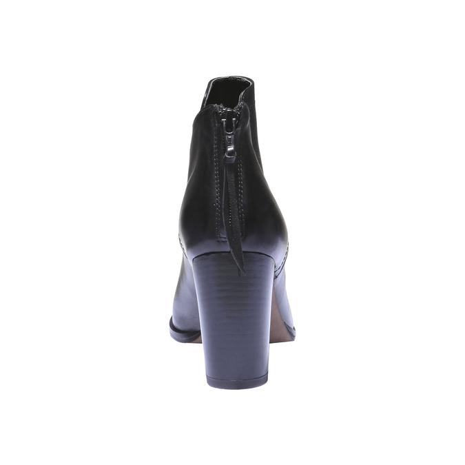 Kožená členková obuv bata, čierna, 794-6576 - 17