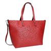 Červená kabelka v Shopper štýle bata, červená, 961-5647 - 13