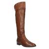 Hnedé kožené čižmy ku kolenám bata, hnedá, 594-4605 - 13