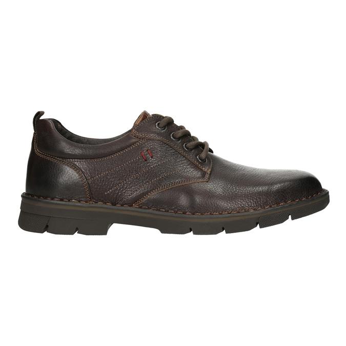 Ležérne kožené poltopánky na výraznej podrážke bata, hnedá, 824-4698 - 15