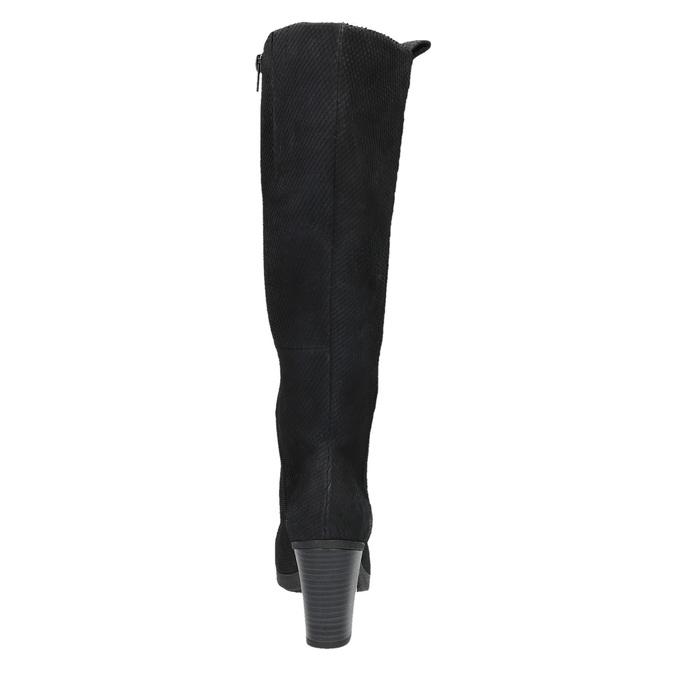 Dámske kožené čižmy bata, čierna, 796-6608 - 17